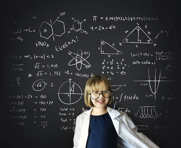 Child with strong math and science skills