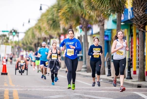 Marathon runners with endurance