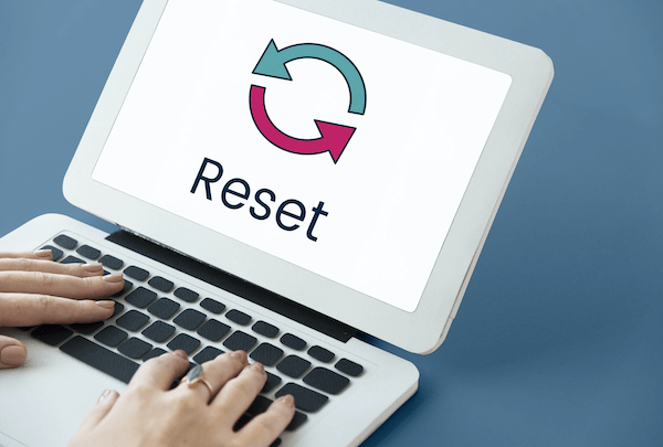 Reset of computer (and life)