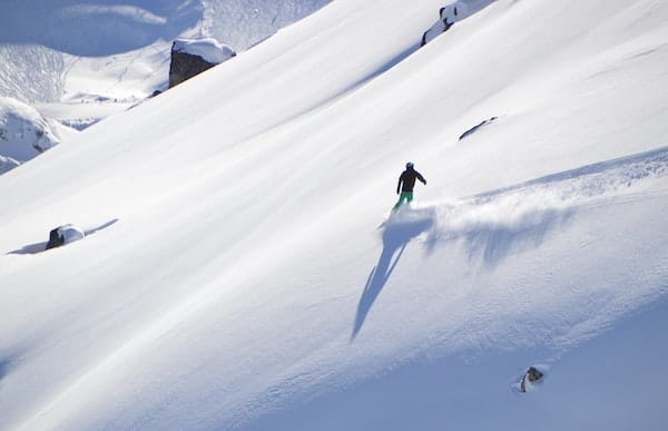 Skiier setting a smooth pace