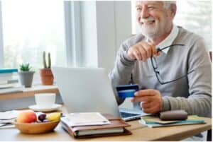 Man with great credit report